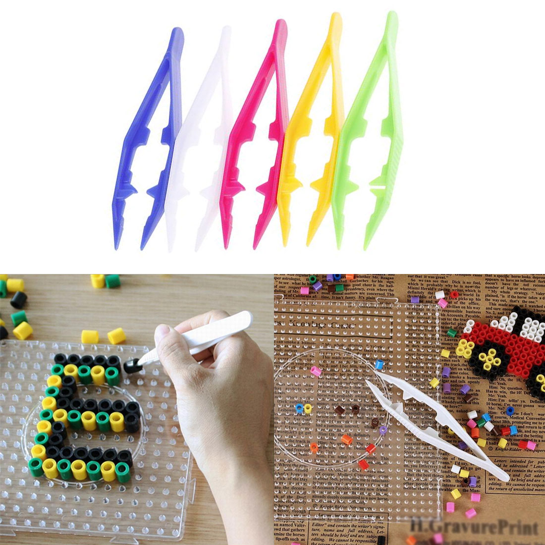 Random Color 1pcs Education Toy Tools Tweezers Clips Kids Craft DIY Tool For Children Kids Boys Girls Intellectual Development