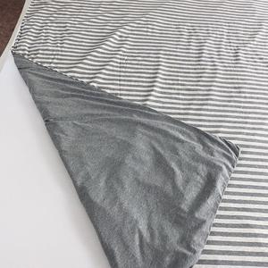Image 2 - Junwell 100% Cotton Yarn dyed  Jersey Duvet Cover Japanese Style Stripe Design Quilt Cover 1PC And 3PCS Set