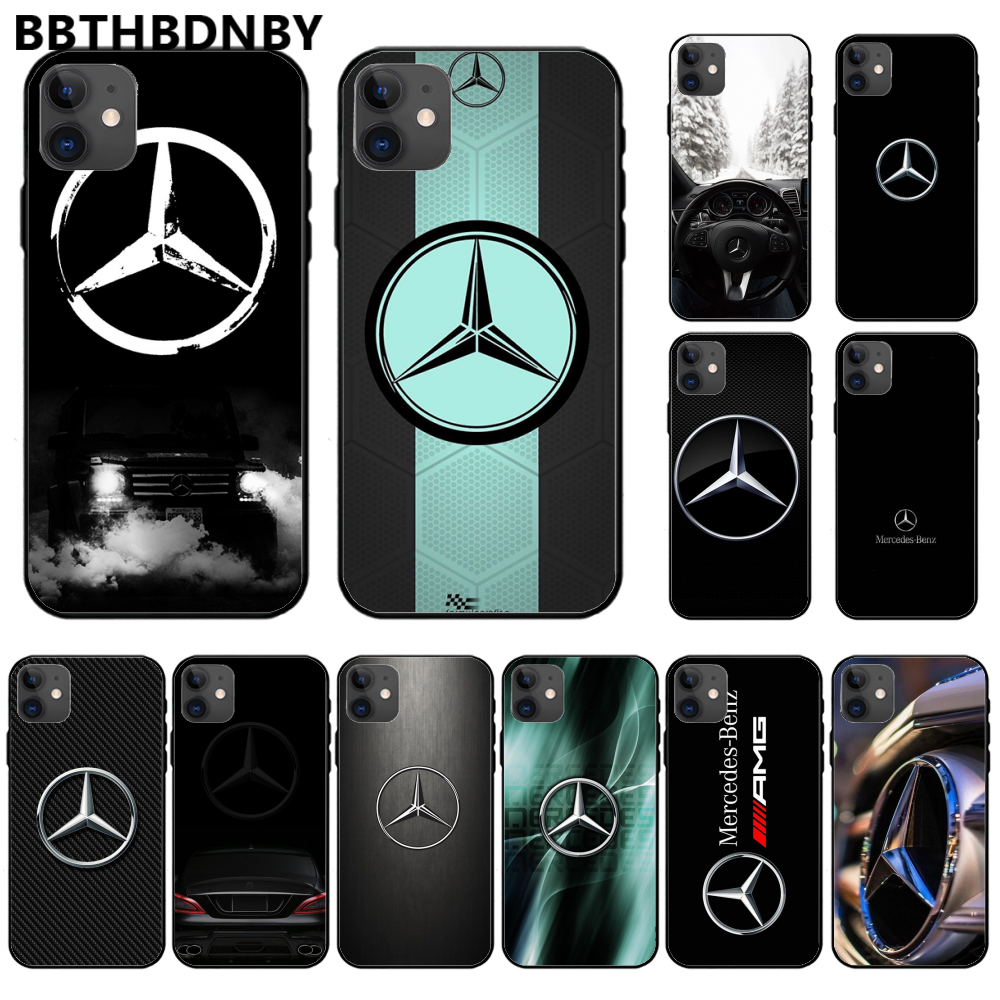 Luxury Mercedes Benz AMG ShellSoft Silicone TPU Phone Cover <font><b>Baseus</b></font> Case For <font><b>Iphone</b></font> 11 Pro Max X Xs Xr 7 8 Plus 6 <font><b>6s</b></font> 5 5s 5se image