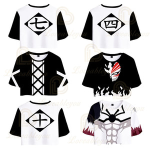 Hot Selling Anime BLEACH T Shirt Women Crop Top 2020 Summer Casual Fashion 3d Print Short-sleeved T-shirt Women Cheap Tshirt