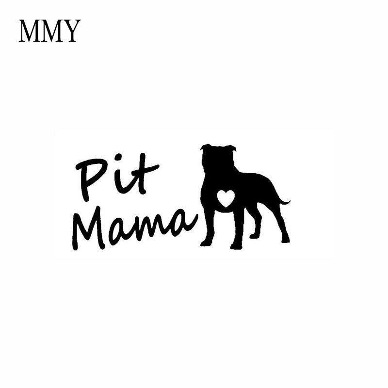 Наклейка с изображением собаки и питбуля, 7*3 дюйма