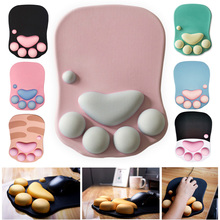 3D Cute Mouse Pad Computer Anime Soft Cat Paw Mouse Pads Wrist Rest Support Comfort Silicon Memory Foam Gaming Mousepad Mat
