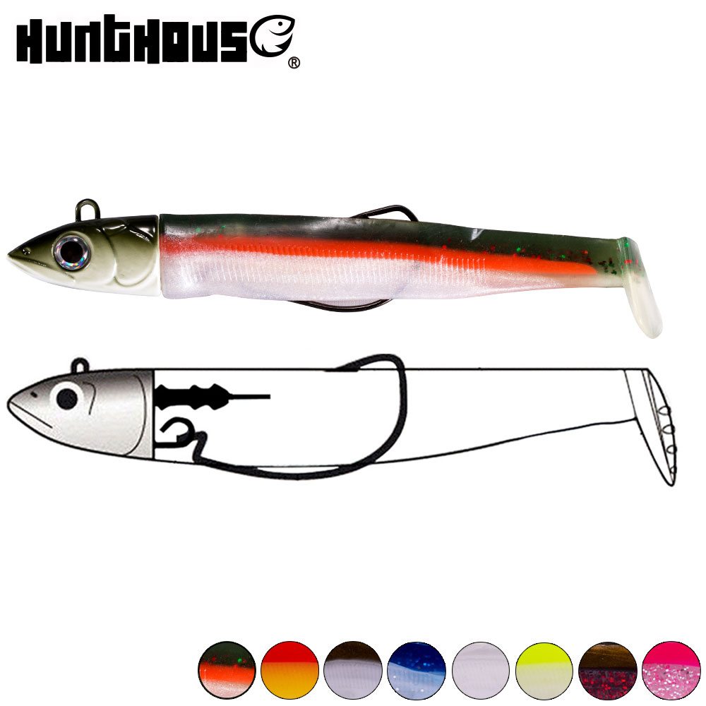 Hunthouse Black Minnow 25g 40g 60g 90g 120g Easy Shiner Fishing Lure Soft Lure Lead Jig Bait Bass Pike Fishing Leurre Souple