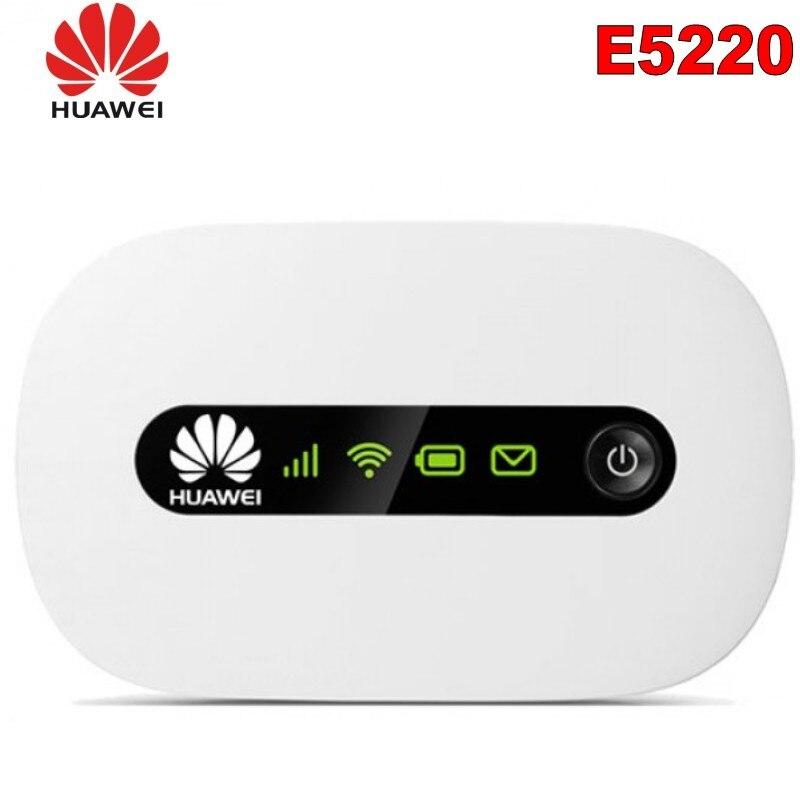 New Unlocked Huawei E5220 3G Wifi Wireless Router Mini Mifi Mobile Hotspot Pocket Car Wifi Modem With SIM Card Slot PK E5330