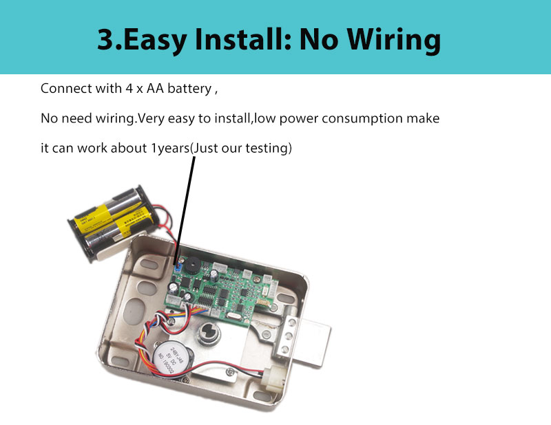 H201f429daa03442caf40319f59a13fbeY AA Dry Battery Easy Install Smart Lock RFID Electronic Locker Door Lock Wireless Rfid Electronic Battery Proximity Card Lock