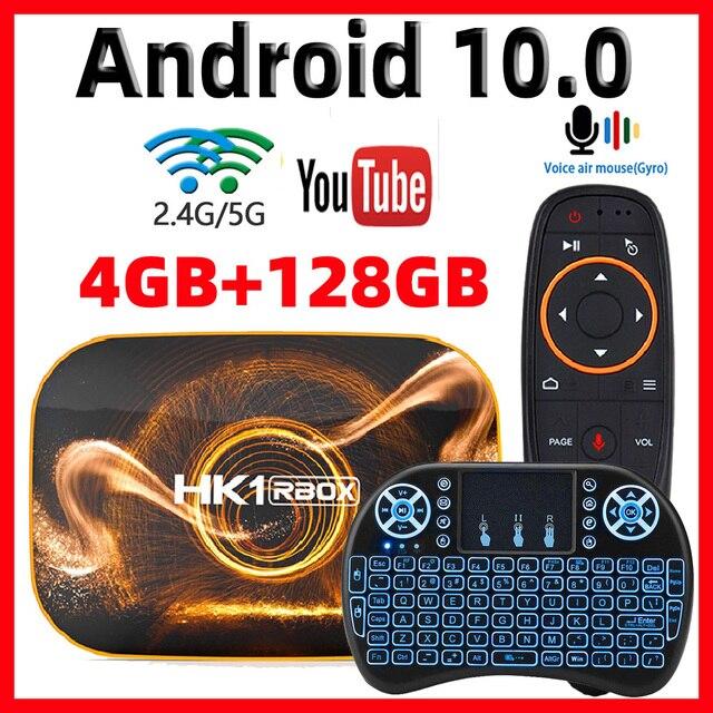 2020 אנדרואיד 10 טלוויזיה תיבת Hk1 מקסימום 4GB 128GB TVbox חכם הטלוויזיה BOX Rockchip RK3318 4K 60fps USB3.0 Google PlayStore Youtube ממיר