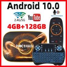 2020 Android 10กล่องทีวีHk1 Max 4GB 128GB TVboxสมาร์ททีวีกล่องRockchip RK3318 4K 60fps USB3.0 Google PlayStore Youtubeชุดกล่องด้านบน