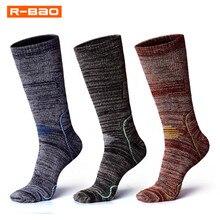 R-BAO, зимние теплые спортивные носки для мужчин, уплотненные, Аляска, махровые, термо-носки для катания на лыжах, уличные, теплые, зимние, походные, спортивные