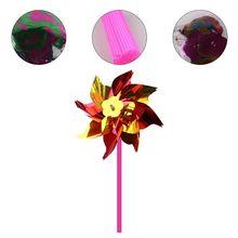 Lawn Pinwheels, Party Pinwheels Windmill Rainbow Pinwheel DIY Pinwheels Set for Kids Toy Garden Lawn Decor, 20 PCS Y4UD