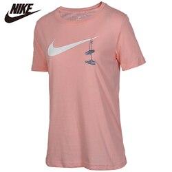 Originale Nike Sportswear T-Shirt Delle Donne del manicotto del Bicchierino Camo Modello Morbido Abbigliamento attività di Sconto