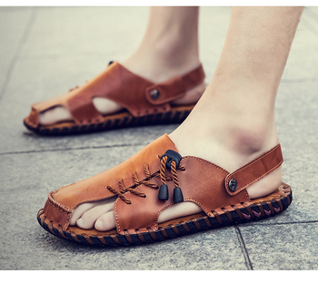 Mens Fashion Leather Sandals