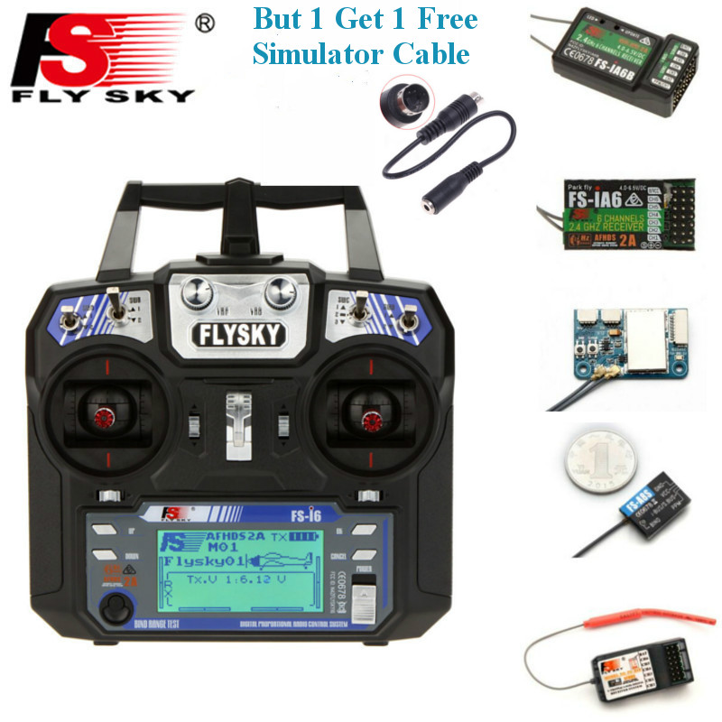 FLYSKY FS-i6 I6 2.4G 6CH AFHDS Transmitter With IA6B X6B A8S R6B IA10B Receiver Radio Controller For RC FPV Drone Airplane