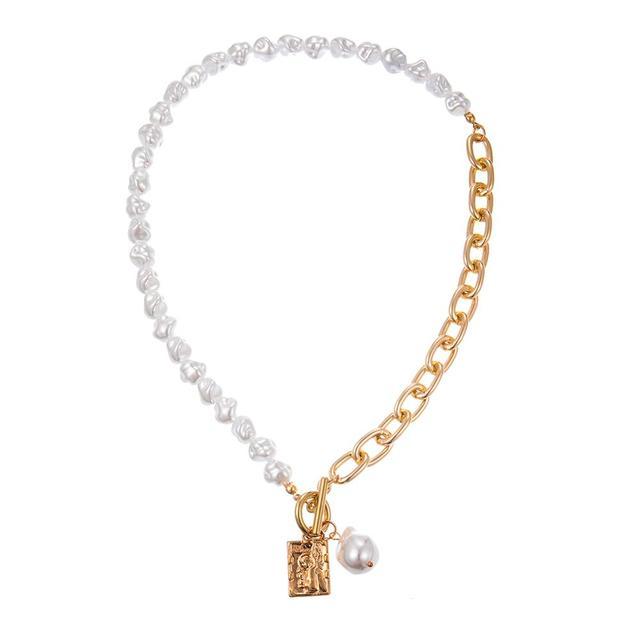 pearl lock pendant necklace 5