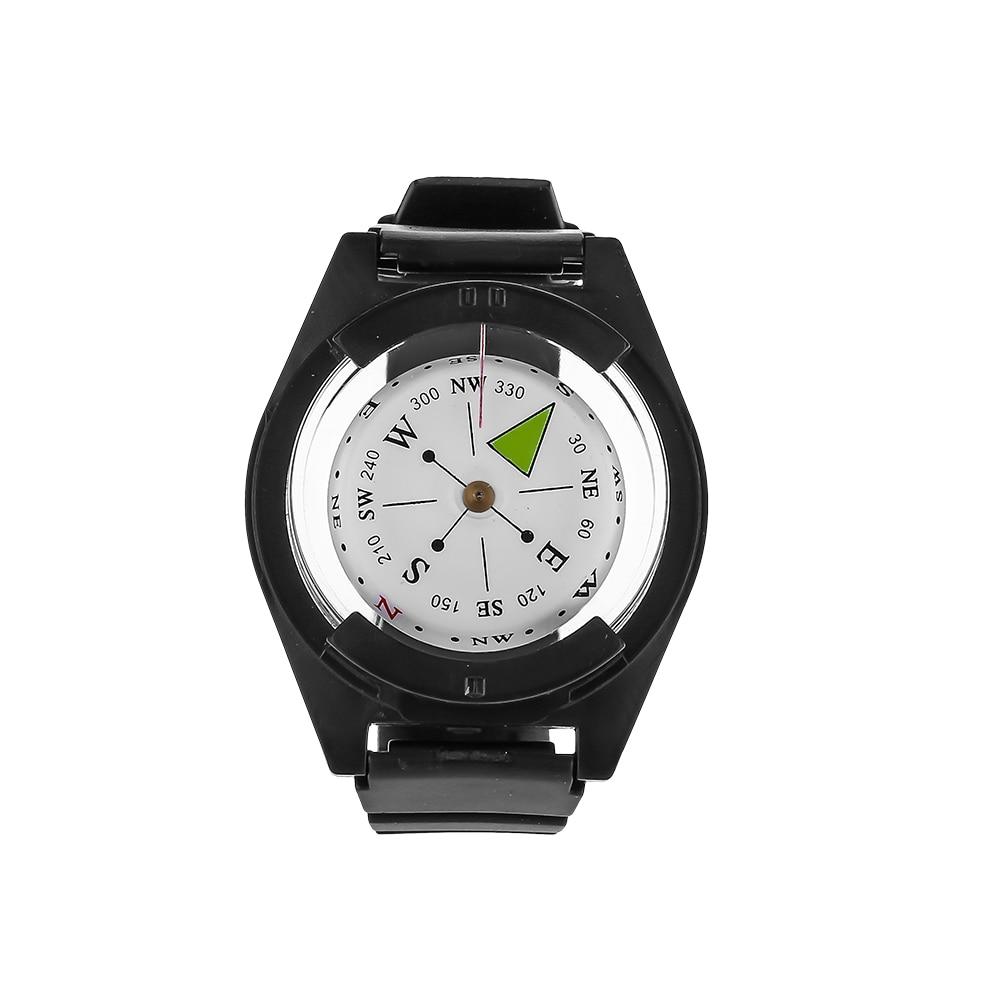 Тактический компас, специально для военных, для выживания на открытом воздухе, часы с черным ремешком, оборудование для рыбалки, охоты, нару...