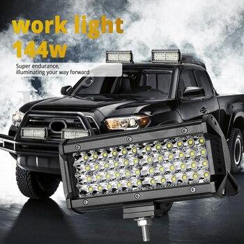 цена на 72W 144W Light Bar/Work Light Spotlight LED Light Bar for Truck Driving Offroad Boat Car Tractor 4x4 SUV ATV 12V 24V