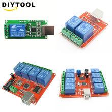 Smart electronics 5v/12v usb relay 1 2 4 8 channel programmable