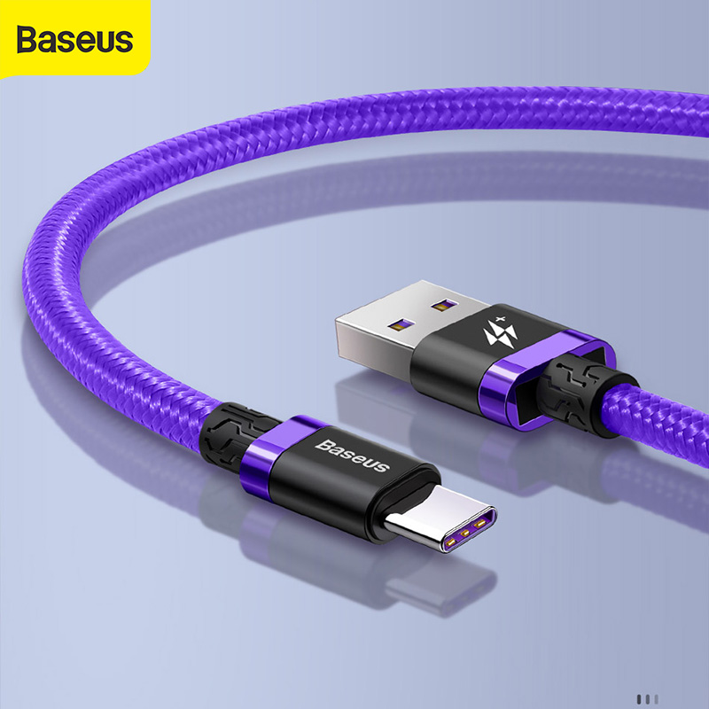 Baseus 40W USB Typ C Kabel Für Huawei Mate 20 Pro 5A Schnelle Ladung USB-C 3,0 5A-Ladegerät Kabel Handy Kabel für Xiaomi