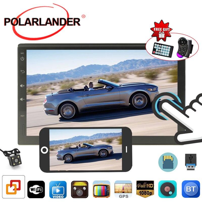 Поддержка камеры заднего вида/WIFI/GPS/Руль управления TF/сенсорный экран 2 DIN 7 дюймов автомобильное радио с бесплатной картой/AUX на Android 4,4