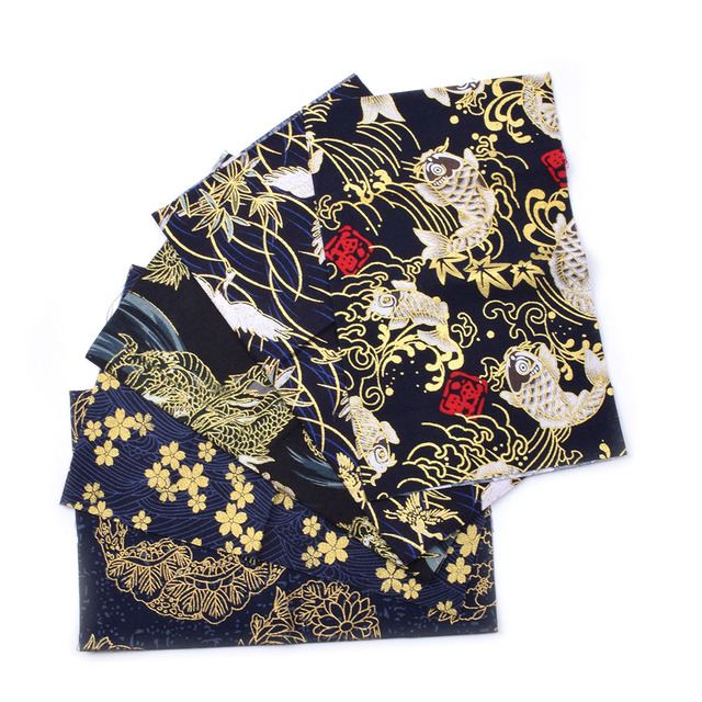 5pcs 20x25cm Japanese Printed Cotton Fabric Bundle For Sewing Dolls &Bags, Quilting material DIY Patchwork Needlework 2