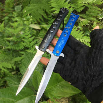 High Hardness Tactical Folding knife Stainless steel Blade Aluminium Handle Pocket Knives Survival Quickly Open Knife EDC Tools