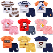 Pajamas Boy Short T-Shirt Girl Baby Cotton Cartoon