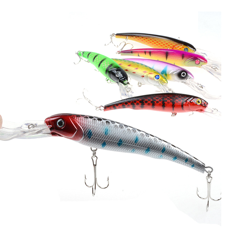 Minnow 16 5 cm 27 9 G fishing tackle lure Outdoor recreation 3D Bionic Eyes good qualit Allure colorful popular Plastic Leisure in Fishing Lures from Sports Entertainment