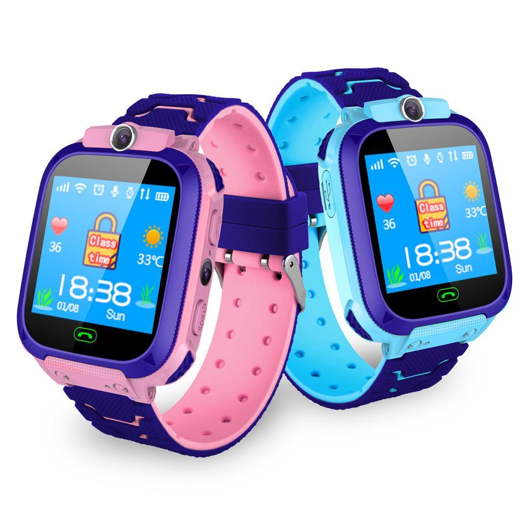 Boys Girls Children Smartwatch Camera Lighting SMS SOS Voice Chat Kids Smart Watch Wrist Band GPS Tracker With Camera Watch