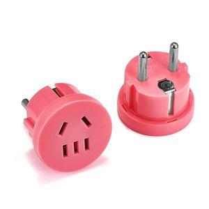 Image 4 - 1 Stuks Vs Naar Eu Kr Plug Converter Travel Adapter Socket Stekker Wall Charger Outlet Stopcontact Au eu Plug Adapter