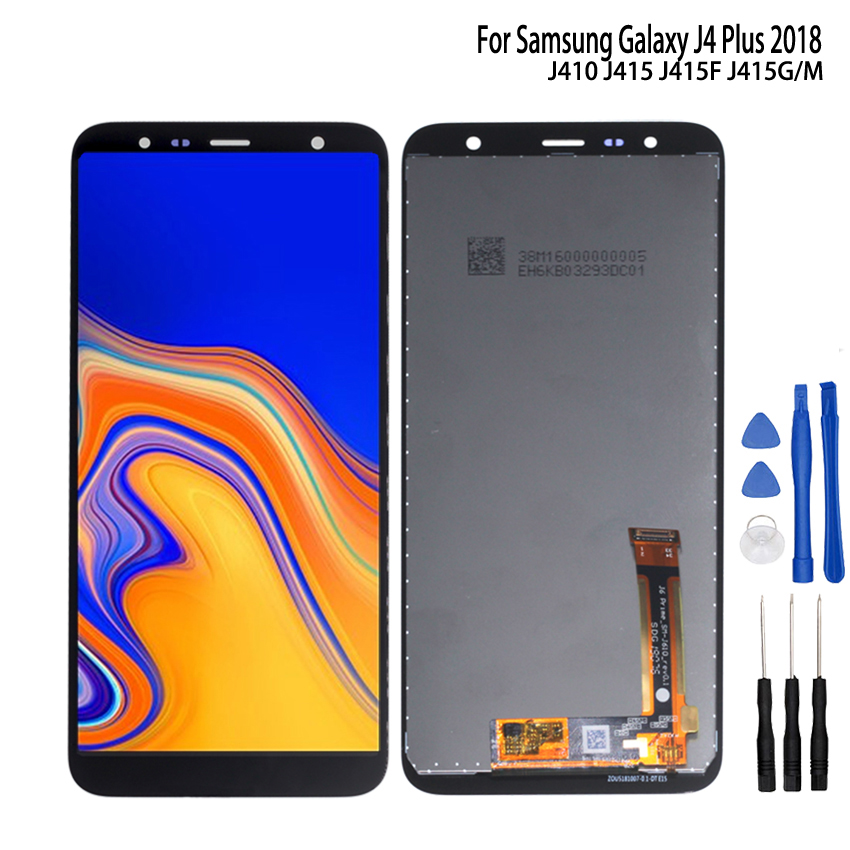 Original For Samsung Galaxy J4 Plus 2018 LCD J415 LCD Display For Samsung J415F J415FN J415G LCD Screen Touch Digitizer Assembly