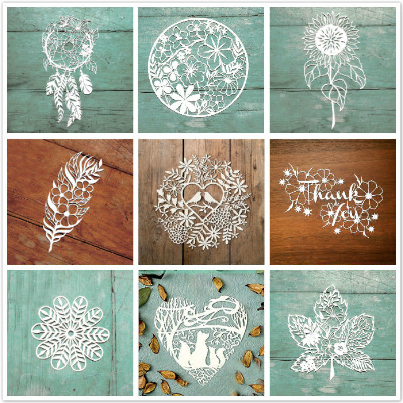 DiyArts Flower Dies Pattern Metal Cutting Dies For Card Making DIY Scrapbooking Album Decor Paper Craft Stencil Die