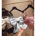 Cosmicchic 2020 Sexy noeud fleur haut court belle douce haute qualité femmes piste réservoirs T Shirt T Shirt sans bretelles vêtements femmes