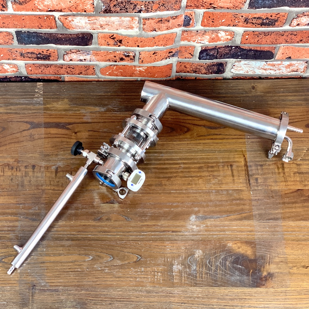 "2"" OD64mm  Visual Rectification Module With Dimroth Condenser  , Reflux Column , Distillation , Sanitary Steel 304"
