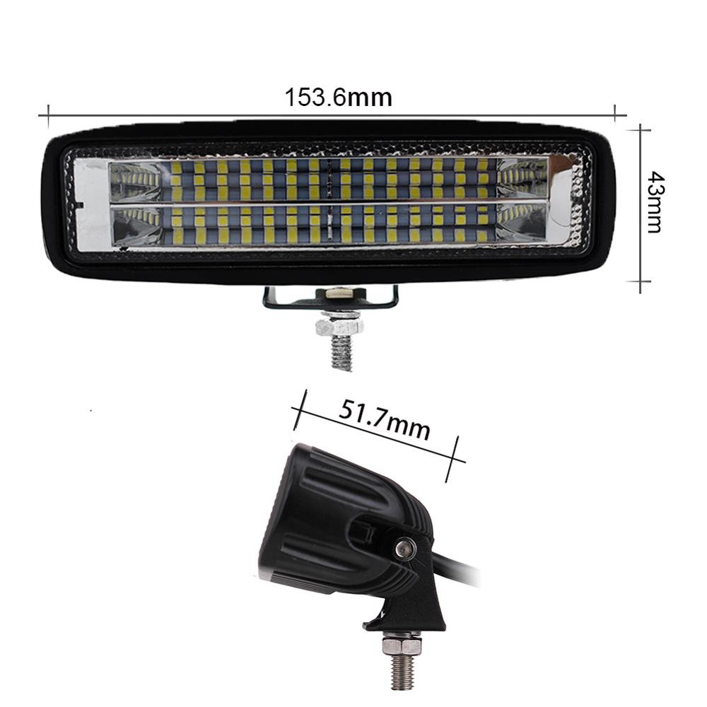 ECAHAYAKU 24x3W Dual 6 inch LED Work Light Bar for Off road SUV Driving Excavator Forklift Boat Motorcycle Farm Vehicles 12V 24V image