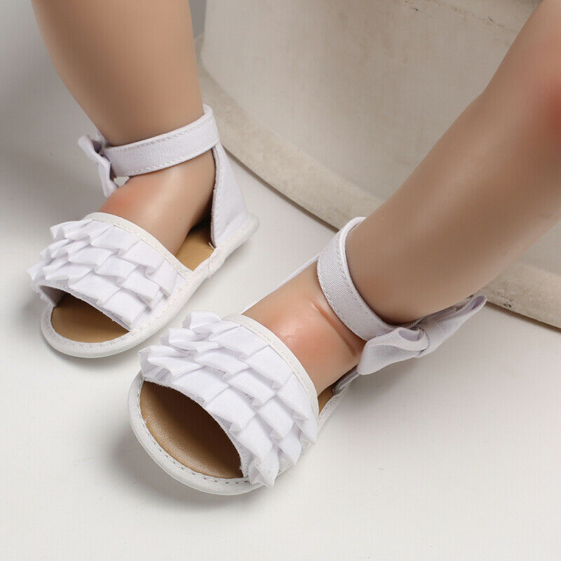 Newborn Baby Girl Soft Sole Crib Shoes Infant Toddler Summer Sandals 0-18 Months Summer Baby Sandals Baby Shoes