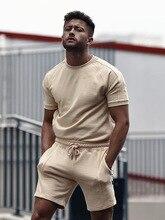 WENYUJH мужские спортивные костюмы короткие рукав футболки и короткие спортивные костюмы спортивные костюмы спортивная одежда мужские летние 2 комплект повседневные одежда