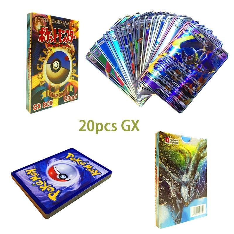 Original Takara Tomy Pokemon Cards Pokecard Shining Cards 20pcs GX MEGA Game Collection Cards