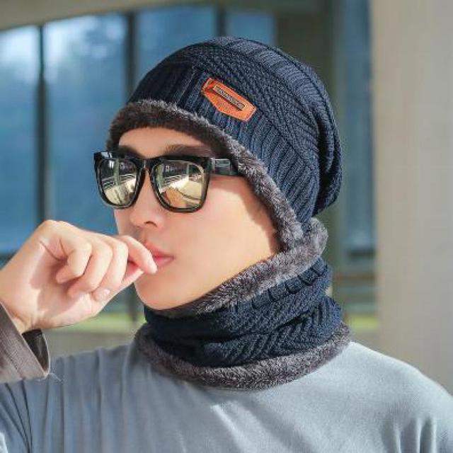 COKK Winter Beanie Hat For Men Knitted Hat Winter Cap Beanie Women Thick Wool Neck Scarf Cap Balaclava Mask Bonnet Hats Gorras 5