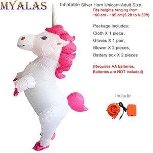 Image 5 - Unicorn Costumi Gonfiabili Per Adulti Donne Uomini Pegasus Halloween Cavallo Pony Carnevale Teenager Del Partito di Cosplay Completa Del Corpo Vestito di Vestito