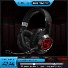 EDIFIER G2II gamingowy zestaw słuchawkowy 7.1 dźwięk przestrzenny 50mm napęd RGB dynamiczny system podświetlenia mikrofon z redukcją szumów