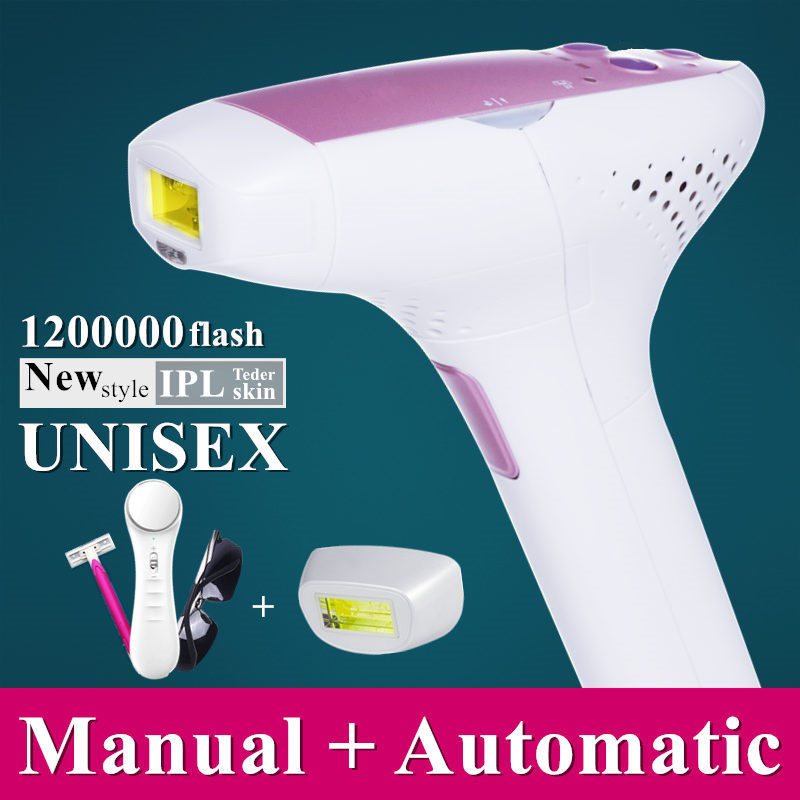 1200000 Flash IPL Laser Hair Removal Machine Laser Epilator Hair Removal Device Permanent Bikini Trimmer Depilador A Laser Women