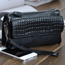 Genuine Leather Women Clutch Long Wallets Female Money Purse