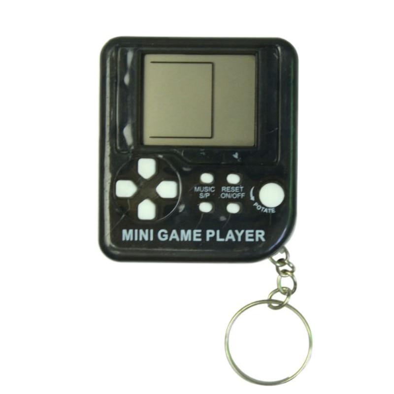 Retro Tetris Game Box Mini Key Chain, Kids Handheld Classic Games Machine With Keychain Ring