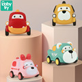 Baby Montessori Toys One Year Old Cartoon Pull Back Car Juguetes Carro Animal Vehicle Education Soft Toys for Baby Boy Xmas Gift