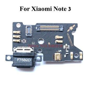 Puerto de carga USB Original cable flexible para Xiaomi Red mi Note 3 mi note3 cargador con piezas de repuesto mi crophone