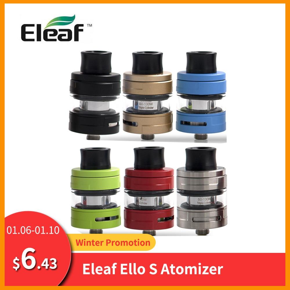 Original Eleaf ELLO S Atomizer 2ml Capacity Tank 510 Thread HW1/HW2/HW3/HW4 Coil Atomizer Tank For Cuboid Mini/Cuboid Tap E-Cig
