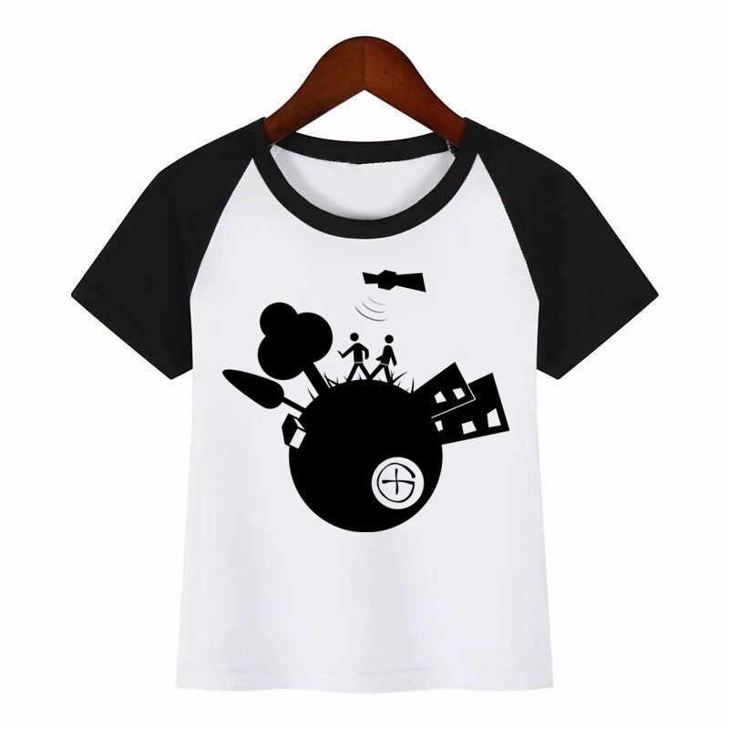 Dei bambini Del Nuovo Fumetto Geocaching T-Shirt Fai Da Te Stampa T Scherza la Camicia Del Bambino Divertente Vestiti di Estate Dei Bambini T-Shirt