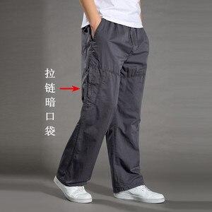 Image 4 - Harem tactica calças dos homens marca 2018 verão flacidez calças de algodão calças masculinas plus size calça esportiva dos corredores pés pantsL 6XL