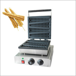 110V/220V Stainless Steel 4 Stripes Waffle maker  Lolly Waffle maker  Commercial Corn machine Pine Waffle make Machine 1750W