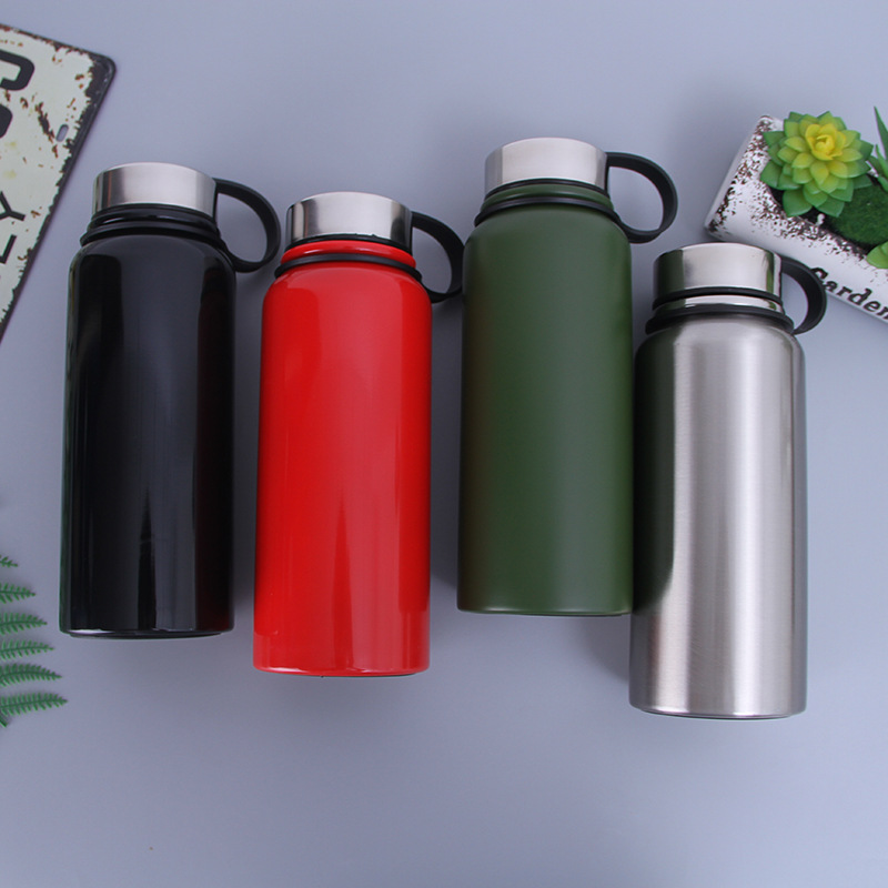 Large Volume Pot Space Outdoor Mountain Climbing Sports Bottle Double Layer Stainless Steel Portable Insulated Cup Advertisement|Sports Bottles| |  - title=