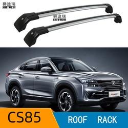 2 sztuk belki dachowe dla Changan Cs85 2019 2020 aluminiowe relingi boczne poprzeczny bagażnik dachowy bagaż CUV SUV LED